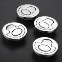4pcs Round Hatch Cabinet Pull Handle Flush Lifting Ring Hatch Locker Latch Boat Caravan Hardware Marine Stainless Steel