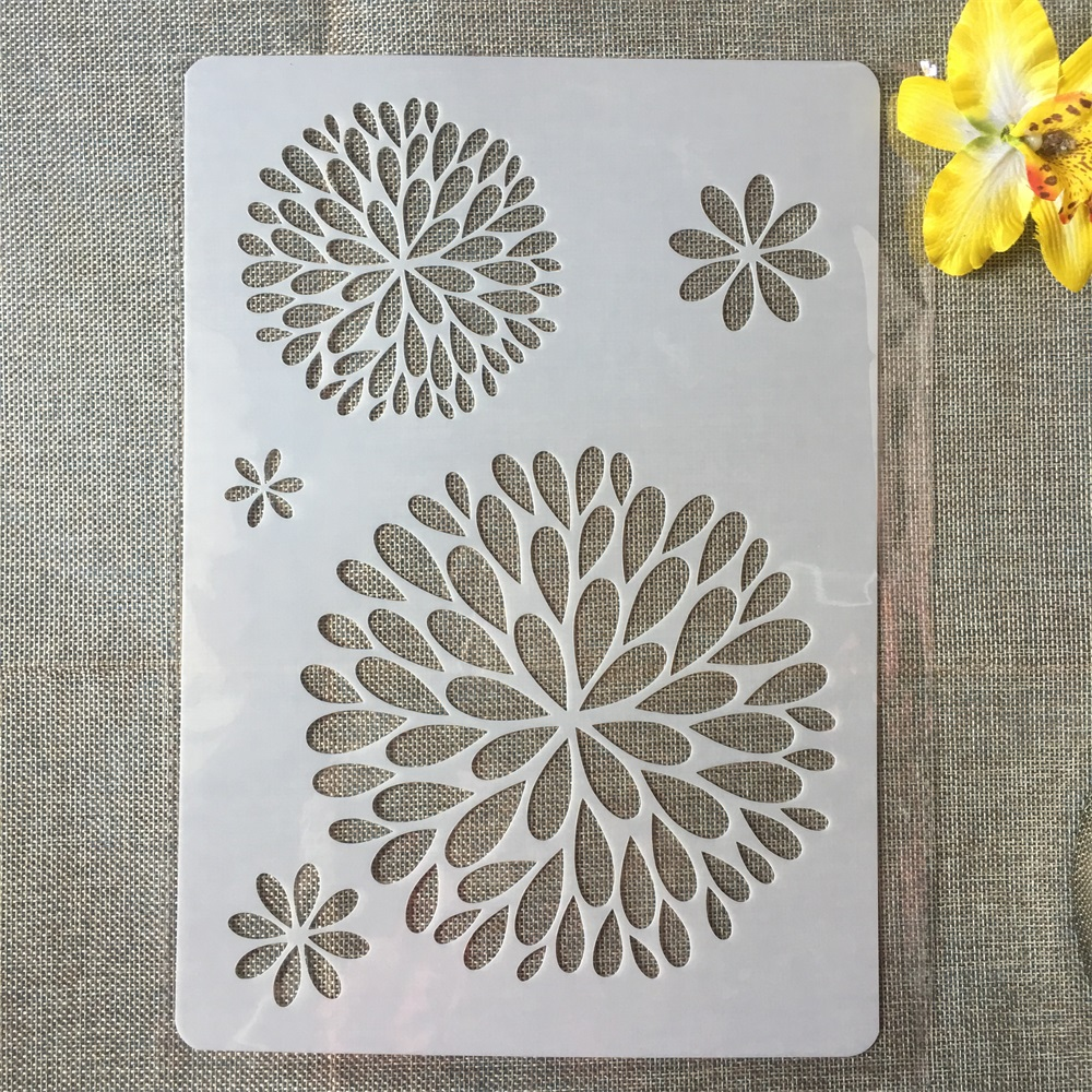 1Pcs A4 Round Circle Leaves DIY Craft Layering Stencils Painting Scrapbooking Stamping Embossing Album Paper Card Template