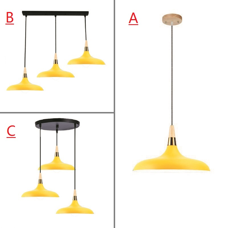 все цены на Yello Pendant Light For Kitchen Island Office Modern Ceiling Lamp Wood Pendant Lamps Bar Large Lighting Fixtures Bedroom Lights