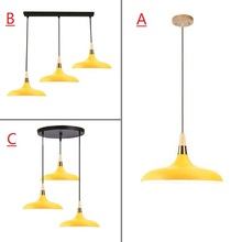 Yello Pendant Light For Kitchen Island Office Modern Ceiling Lamp Wood Pendant Lamps Bar Large Lighting Fixtures Bedroom Lights