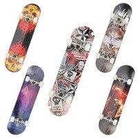 Maple Wood Four Wheel Professional wooden skateboards longboard drift skateboard ABEC 7 chrome steel bearings longboard 5 color