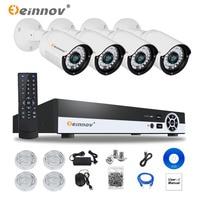 EINNOV Plug And Play 4CH CCTV System POE NVR Kit Onvif P2P 1080P 2 0MP HD