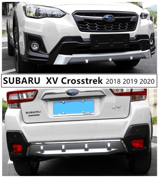 For SUBARU XV Crosstrek 2018 2019 2020 Front & Rear Bumper Guard Plate Protector Anti-impact High Quality ABS Auto Accessories image