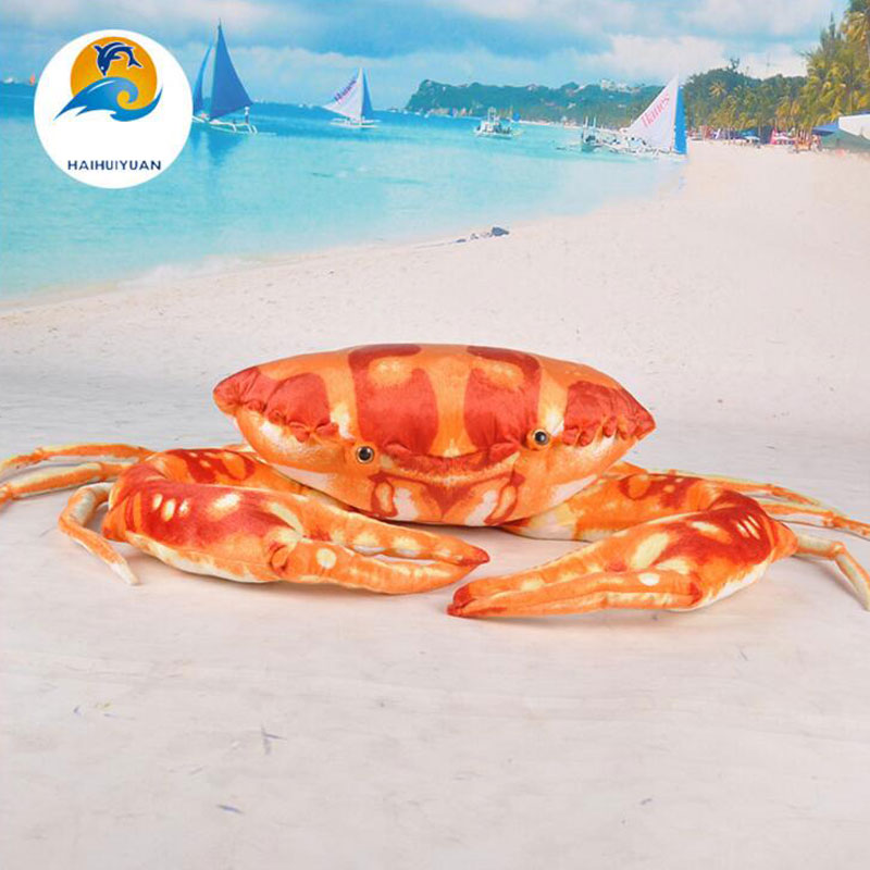 Crab 80cm Plush Toys  Large Crab Simulation Ocean Plush Animal Doll Pillow Personality Gift Creative Toy