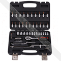 "46 Pcs 1/4"" Socket Ratchet Sleeve Wrench Set Tool Kit for Motor Bike Car Repair"