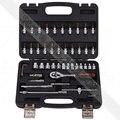 "46 Unids 1/4 ""Socket Manga Ratchet Wrench Set de Herramientas de Reparación Kit para Moto Coche"