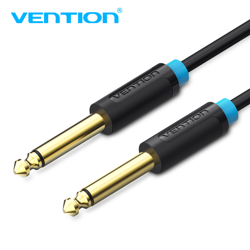 Vention Aux Guitar Cable 6.5 Jack 6.5mm to 6.5mm Audio Cable 6.35mm Aux Cable for Stereo Guitar Mixer Amplifier Speaker cable image