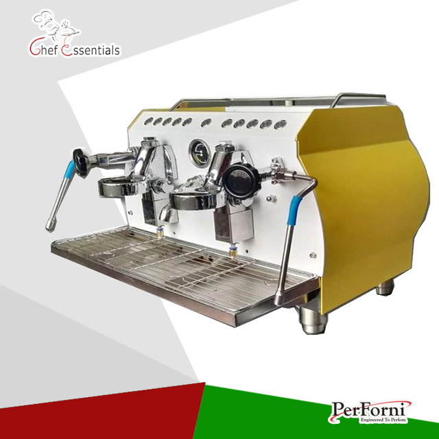 KC 112H Wholesale Commercial Coffee Machine Italian Espresso 2 Group Maker Making