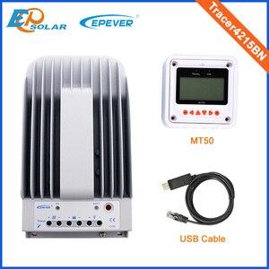 Image 2 - 12 فولت 40A 40amp جهاز تحكم يعمل بالطاقة الشمسية EPEVER Tracer4215BN + درجة الحرارة الاستشعار 12 فولت 24 فولت السيارات نوع مع MT50 البعيد متر
