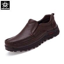 URBANFIND אמיתי עור גברים שמלת נעלי גודל גדול 38 48 טובה באיכות איש פורמליות עסקים אוקספורד 2 סגנונות