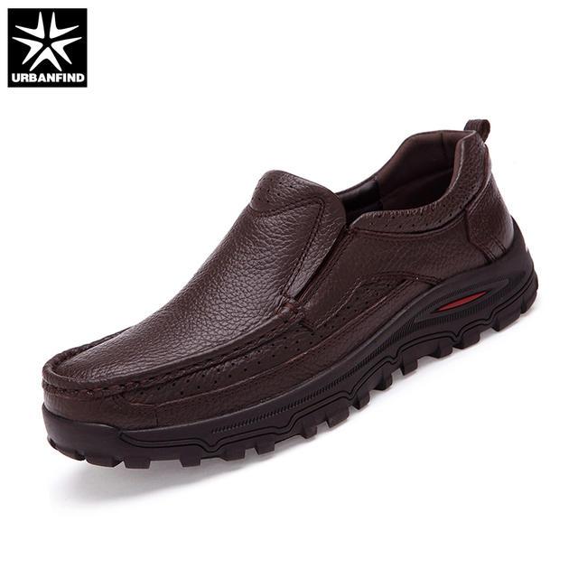 URBANFIND Genuine Leather Men Dress Shoes Big Size 38 48 Good Quality Man Formal Business Oxfords 2 Styles