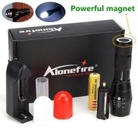 Alonefire NEW Xml T6 Led Flashlight Diffusers 700 M CREE XML T6 LED Camping Zoom Led