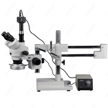 Discount! Boom Stand Stereo Microscope–AmScope Supplies 3.5X-90X Boom Stand Stereo Microscope w 80-LED Ring Light + 5MP Digital Camera