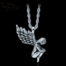 1 pcs Fashion Delicate Style Unisex Punk Style Stainless Steel Angel Girl Pendants Necklace NEW(China)