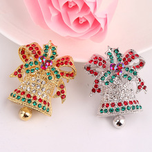 CINDY XIANG Colorful Bell Brooches For Women Vintage Christmas Jewelry Fashion Child Pin Dress Coat Accessories Gift Hot Sales