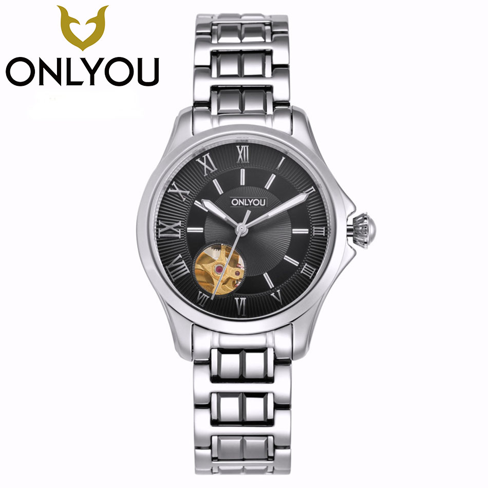 ONLYOU Top Brand Women Mechanical Watches Luxury Luminous Automatic Ladies Watch Business Waterproof Wristwatch Wholesale hvenshi automatic mechanical watch women rose gold watch top luxury watch ladies wristwatch fashion casual watches
