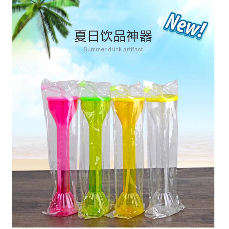 factory Wholesale & retail  Top-Rated Drinking Yard  Glass 600ml plastic water bottle with straw