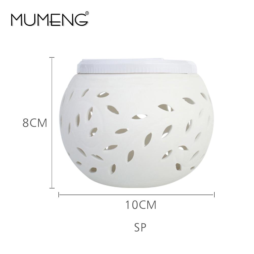 mumeng RGB Night Light Solar Table Lamp Light Control Colorful Decorative Bedroom Lights Ceramics Leaf Pattern Gift Luminaria
