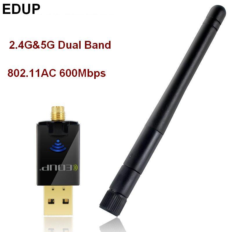 ორმაგი band 802.11AC 5Ghz USB WiFI უკაბელო - ქსელის აპარატურა - ფოტო 1