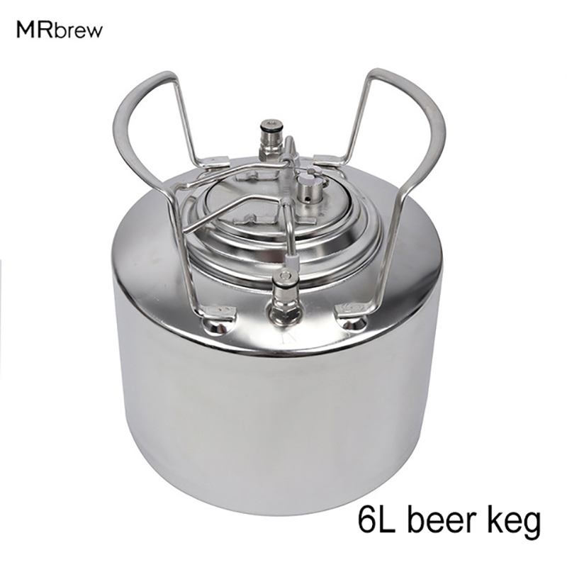6 Litre Stainless steel 304 Ball Lock Cornelius style Beer Keg, Pepsi kegs, soda wine barrel