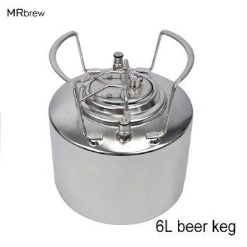 6 Litre Stainless steel 304 Ball Lock Cornelius style Beer Keg, Pepsi kegs, soda wine barrel - discount item  27% OFF Kitchen,Dining & Bar
