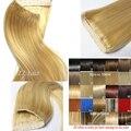 #613 70g 80g 100g 120g 140g 160 5gthick Extensión Brasileña Del Pelo de remy del pelo humano extensiones Flip En la Extensión Del Pelo Humano