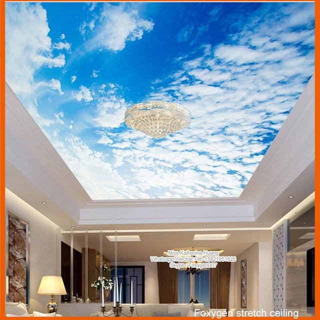 2017 pop uv printed pvc stretch ceiling design for wall for Wall false ceiling designs