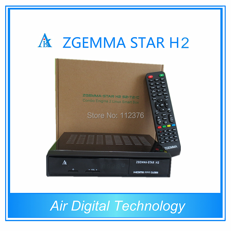 2pcs/lot Air Digital Best selling products Zgemma Star H2 Enigma 2 Combo DVB-S2+T2/C Satellite Receiver 5pcs lot best offer 751mhz cpu zgemma star h2 hd combo dvb s2 dvb t2 c satellite receiver low cost in stock now