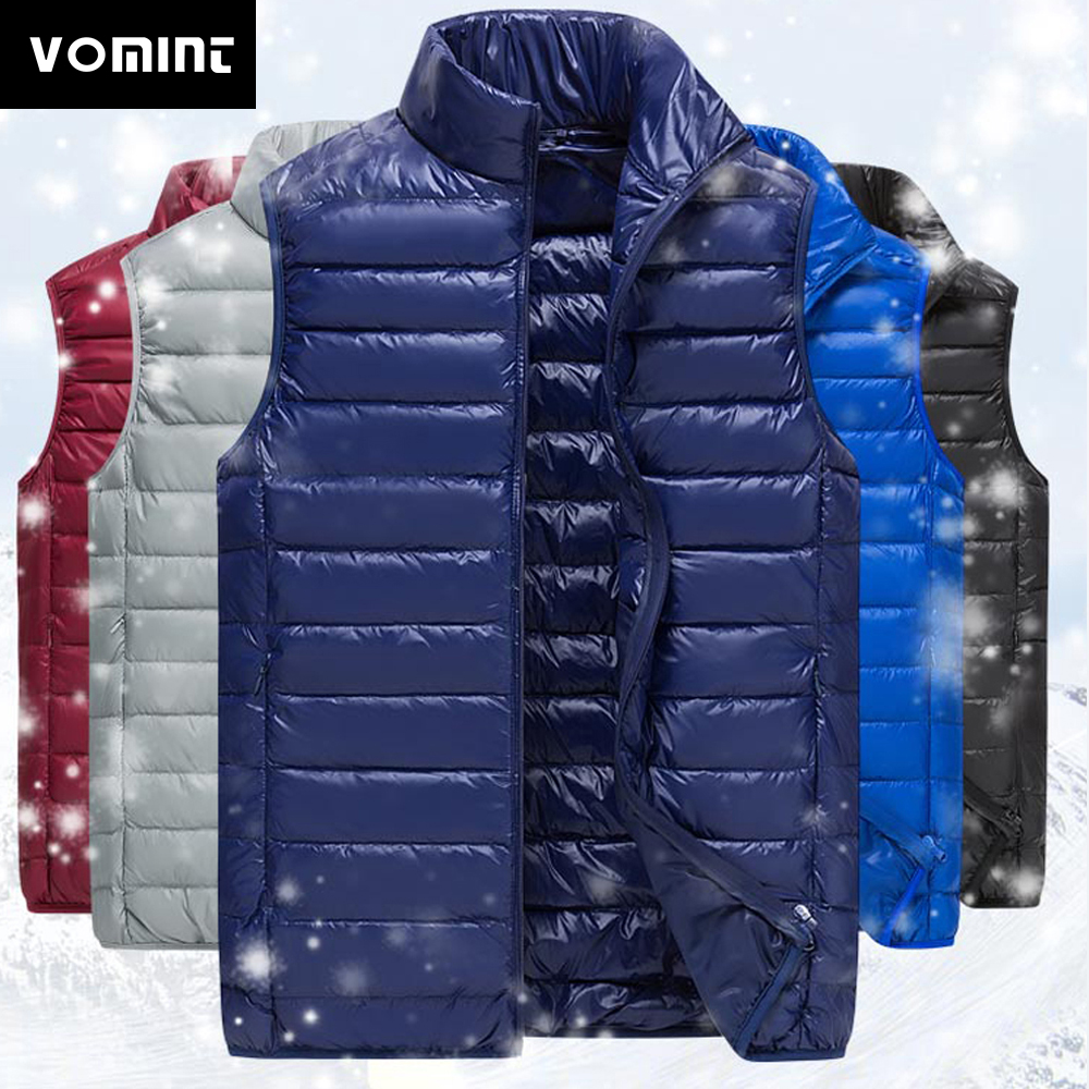 Vomint Фирменная Новинка Для мужчин S Подпушка пальто жилет Зимняя куртка светло 90% пуховой жилет короткий тонкий Подпушка Для мужчин жилет короткий Куртки v7a1c003