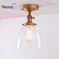 Permo Vintage Ceiling Sonce Light Modern Wall Lamp Cloche Transparent Clear Glass Shade Loft Stairs Balcony Lighting fitures