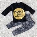 2016 primavera e no Outono Período de bebês recém-nascidos lazer moda design de moda puro algodão de manga longa roupas idade 0-24 mês