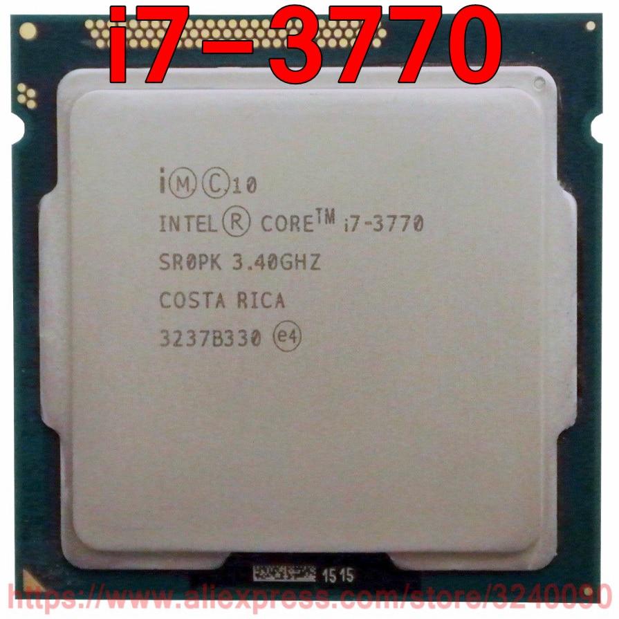 Original Intel CPU Core i7 3770 SR0PK Processor 3 40GHz 8M Quad Core i7 3770 Socket