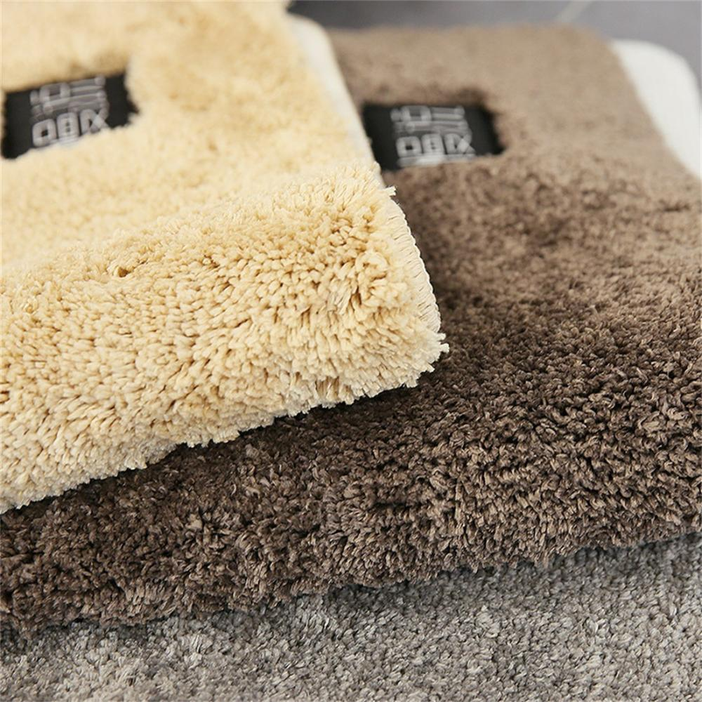 Bath Mat Polyester Carpet Rugs Toilet Funny Bathtub Room Living Room Door Stairs Bathroom Foot Floor Mats Absorbent Floor Mat