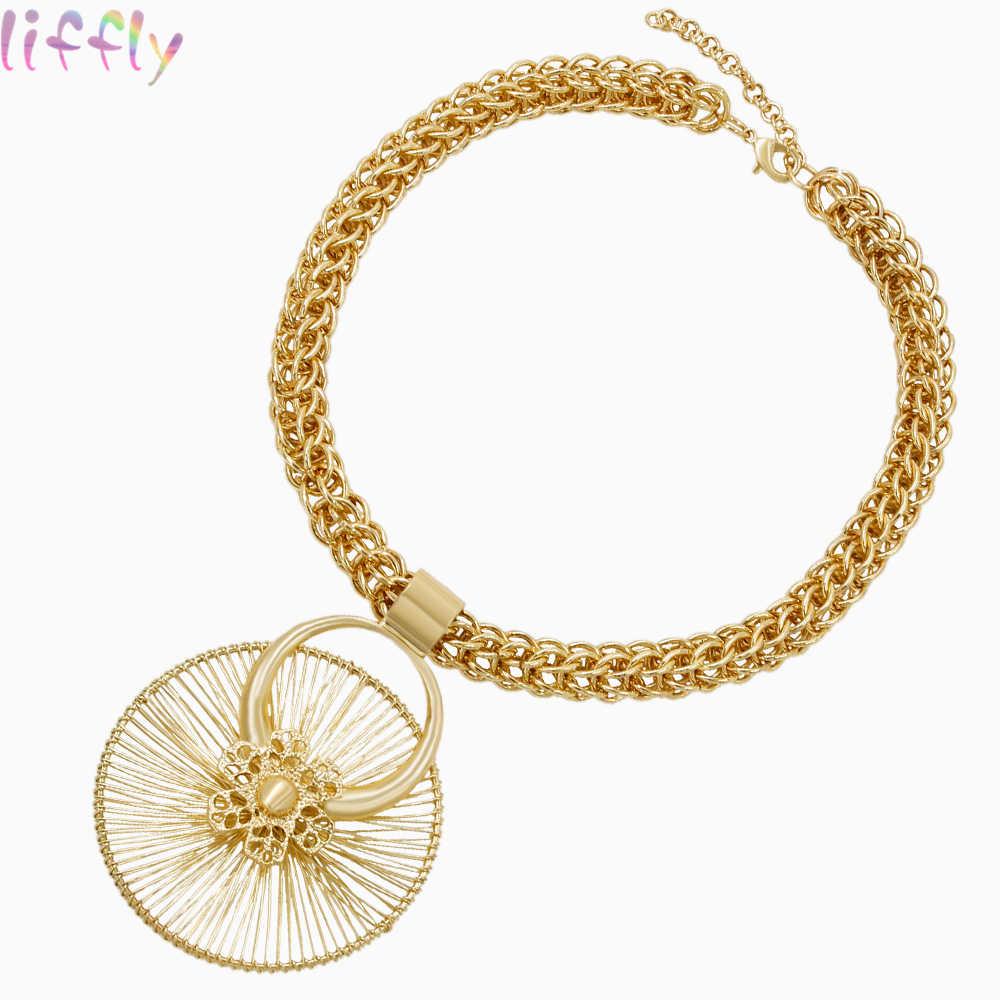 Горячие африканские бусины комплекты украшений для женщин Свадебные винтажные Дубаи наборы золотых ювелирных украшений ожерелье кольцо модные серьги, украшения подарок