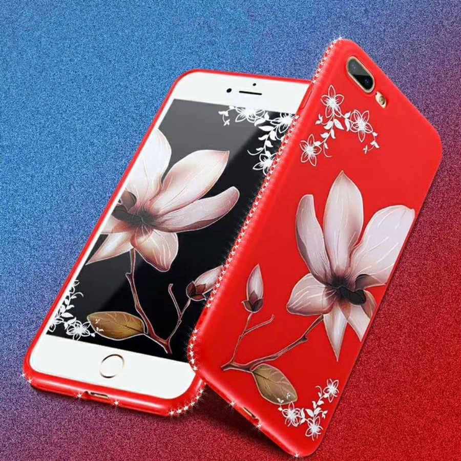 Цветок силиконовый чехол для мобильного телефона чехол для спортивной камеры Xiao mi 8 6X mi A1 5X Red mi S2 4X 5A 5 Plus Note 5A 5 Pro крышка блестящая переливающаяся на спине и цветочным узором чехол