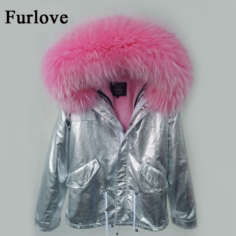 Real raccoon fur collar hooded winter jacket women parka fur coat fashion thick parkas vintage silver casual coats warm jackets red stripe fur inside male coats winter wear keen warm elegant real raccoon fur collar cashmere fur parka