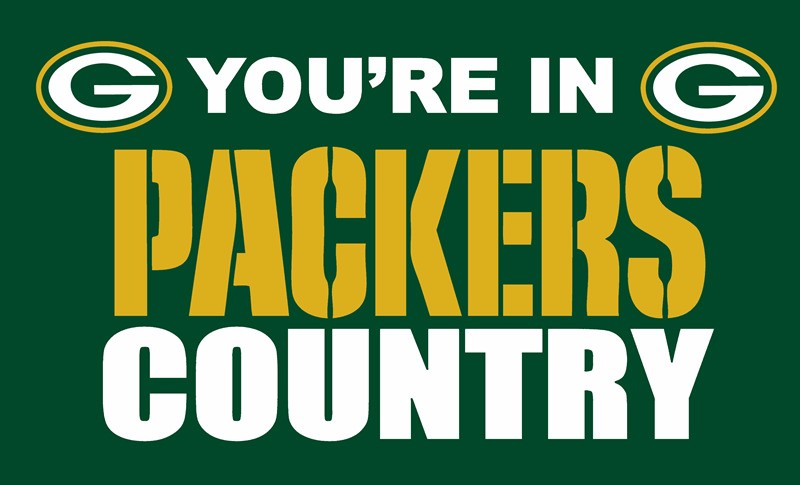 Green Bay Packers In Land Sport Team Digitaldruck Fahnen Banner 3FTx5FT 100D Polyester Flagge metall Ösen 90*150 CM