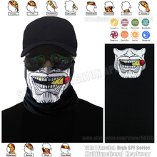 TRACKABLE SHIPPING Skull Cigar Boss Face Shield Multifunction Bandana UPF 40 Summer Sunscreen Balaclava Magic Scarf Bicycle Mask(China)