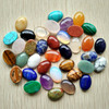 2017 Assorted Natural Stone Oval shape CABOCHON CAB 13x18mm mix Beads for jewelry making Wholesale 50pcs/lot Free shipping