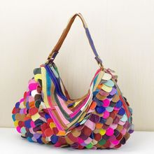 2015 erste schicht rindleder bunten farbstoffgleiches mode tasche schultertasche messenger bag handtasche frauen