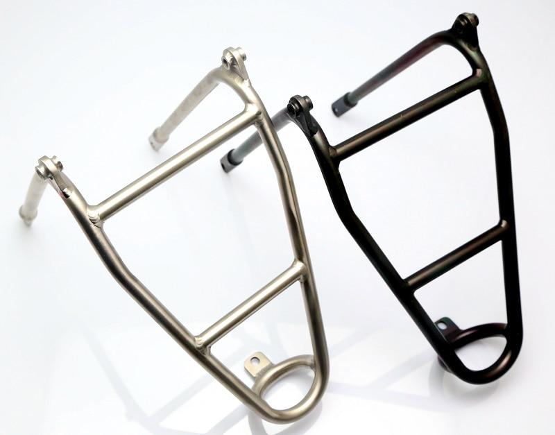 Support arrière en alliage de titane pour vélo Brompton 180g de haute qualité
