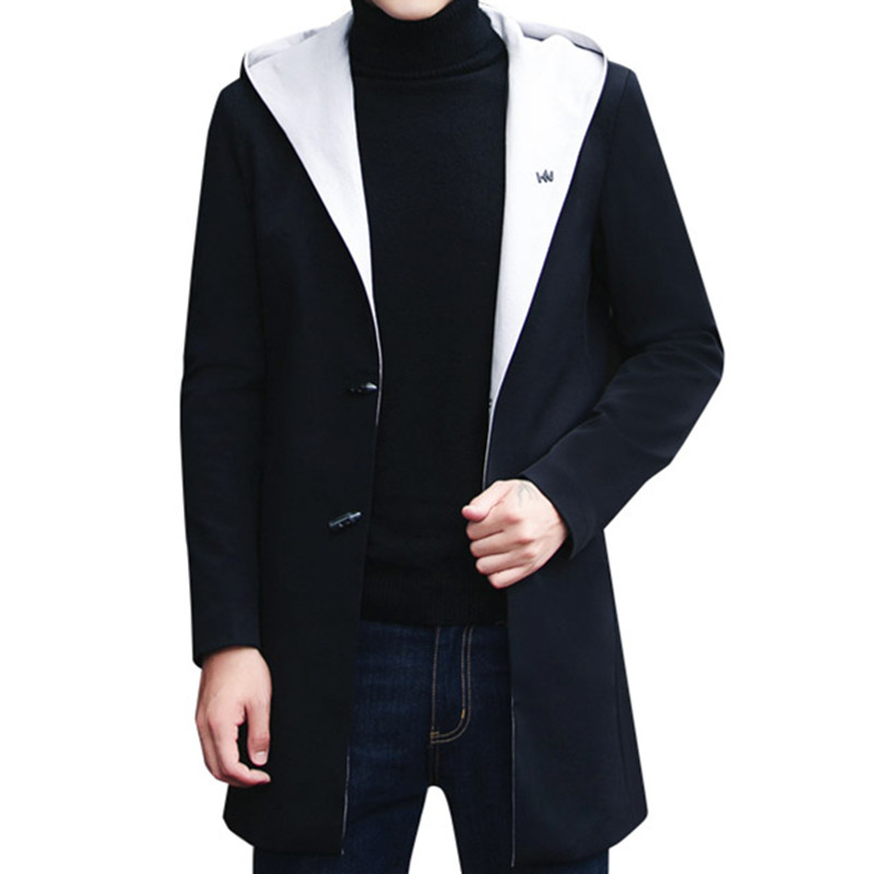 Popular Mens Hooded Trench Coats-Buy Cheap Mens Hooded Trench ...