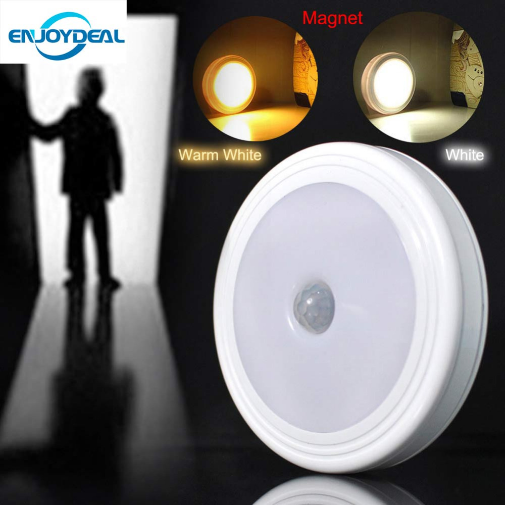 Smart body detector infrared pir motion sensor 5 led night light smart body detector infrared pir motion sensor 5 led night light with magnet auto onoff for hallway pathway closet wall lamp in night lights from lights parisarafo Gallery