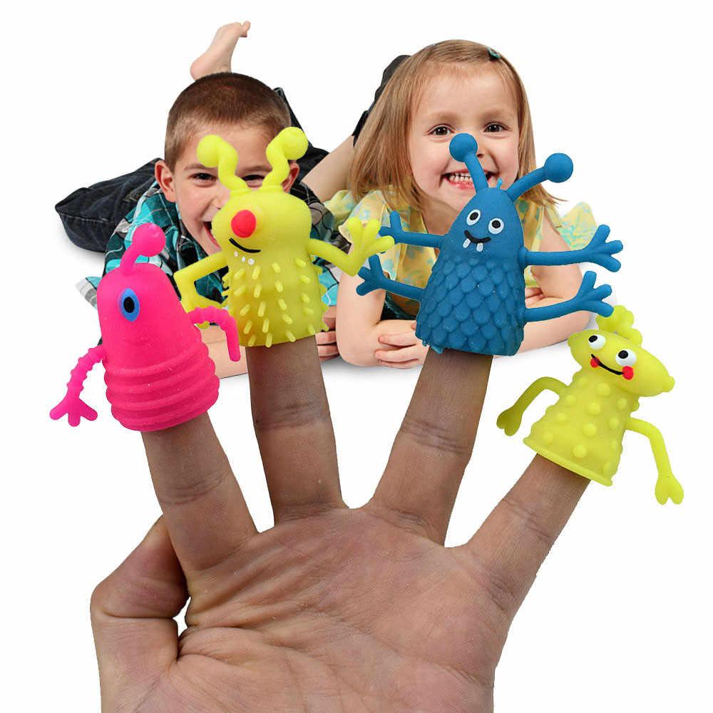 Finger Puppets zestaw zabawek dla dzieci urocza historia twarzy czas do odgrywania ról realistyczne dla małych dzieci zabawki dla dzieci Dropshipping ship from US