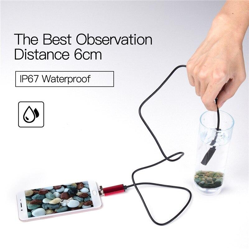 AnpassungsfäHig 7mm 2 In 1 Usb Endoskop 480 P Hd Schlange Rohr Und Android Endoskop Usb Endoscopio Inspektion Micro Kamera Für Pc Smart Telefon SchöNe Lustre Werkzeuge