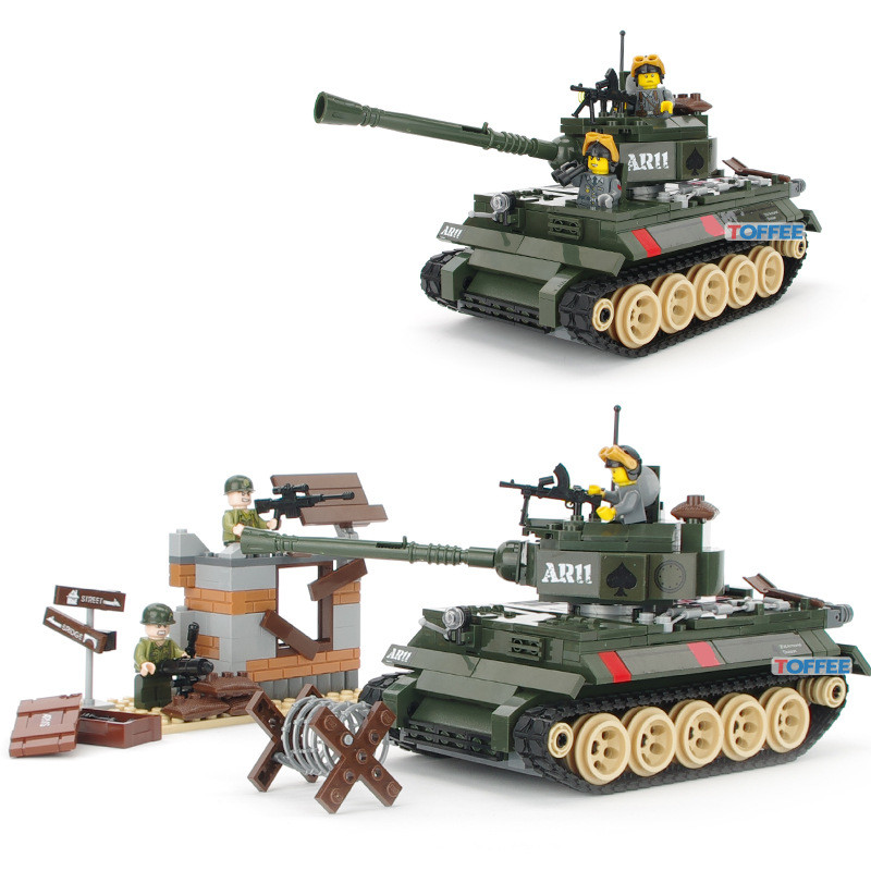 The Battle MILITARY Tank Soldier SWAT World War 2 Weapon Gun Army Building Blocks Brick figure Educational Toy Children Boy Gift цена