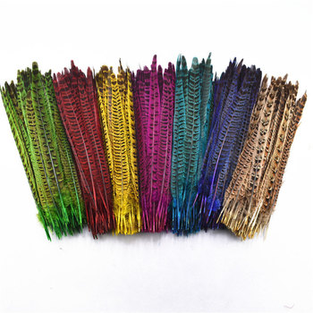 10Pcs/Lot Female Pheasant Tail Feathers 25-30CM/10-12inches Natural For Crafts DIY Wedding Decorations Plumes