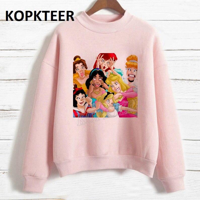 Sudadera Mujer Funny Make Face Princess Graphic Sweatshirt Women Hoodies Sweat Femme 2019 Harajuku Hoodie Kawaii Streetwear