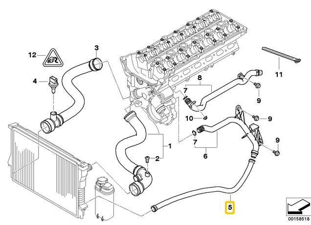 Хладагент расширительный бак для трубы шланг для BMW E46 323i 325i 328i 330i 325Ci 11531436410