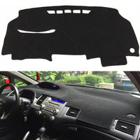 1pcs Polyester Car Inner Decorations Accessories Dashboard Cover Dashmat Dash Mat Pad For Honda Civic 2006